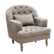 Home Loft Concepts Dolores Tufted Arm Chair; Grey