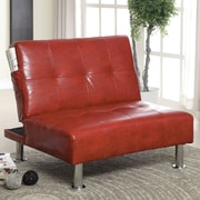 A&J Homes Studio Bulle Convertible Chair; Red