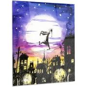 DesignArt Glossy 'Sleepwalker in Moonlight' Painting Print on Metal; 48'' H x 30'' W x 1'' D