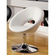 A&J Homes Studio Kate Swivel Papasan Chair; White