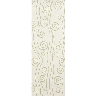 Somerset Bay Boardwalk Lime & White Area Rug; 8' x 11'