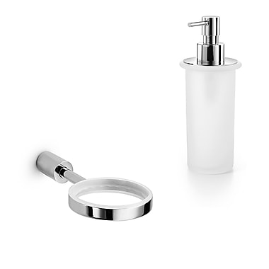 WS Bath Collections Picola Soap Dispenser; Frosted Glass