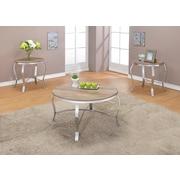 ACME Furniture Malai Weathered 3 Piece Coffee Table Set; Light Oak