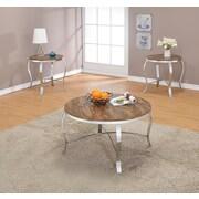 ACME Furniture Malai Weathered 3 Piece Coffee Table Set; Dark Oak