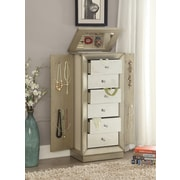 ACME Furniture Talor Jewelry Armoire w/ Mirror; Gold