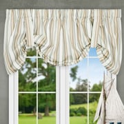Ellis Curtain Jaden Stripe 60'' Tie-up Curtain Valance; Spa