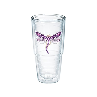 Tervis Tumbler Garden Party Dragonfly Shimmer 24 Oz. Tumbler; Purple WYF078278291613