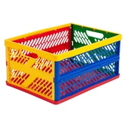 Offex Vented Collapsible Plastic Crates (Set of 12)