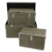 Selectives Townsend Faux Leather Storage Trunk