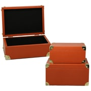 Selectives Pumpkin Faux Leather Storage Box Trunk