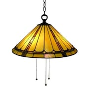 Warehouse of Tiffany Classic Hanging Lamp 3 Light Inverted Pendant