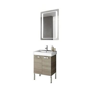 Acf cubical 24 39 39 single bathroom vanity set w mirror for Miroir wenge