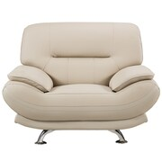AmericanEagleInternationalTrading Mason Arm Chair; Cream