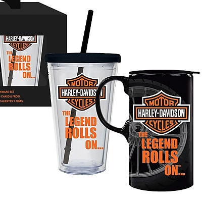 Evergreen Enterprises, Inc 2 Piece Harley-Davidson Hot and Cold Cup Set WYF078279886317
