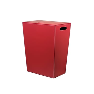 Ws bath collections ecopelle laundry hamper red staples - High end laundry hamper ...