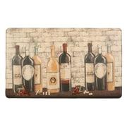Home Fashion Design Bennett Wine Bottle Kitchen Mat
