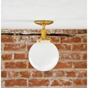Illuminate Vintage Industrial 1-Light Semi Flush Mount