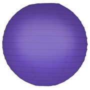 Luminarias Round Lantern (Set of 5); Purple