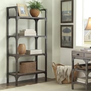 ACME Furniture Gorden Weathered Oak and Antique 65'' Etagere Bookcase