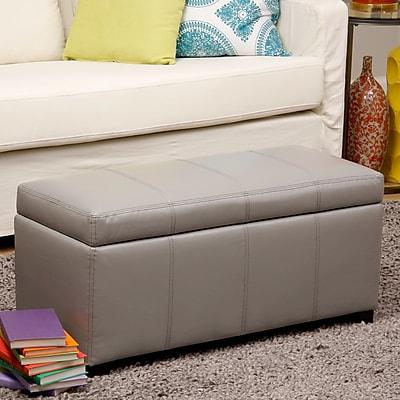 Warehouse of Tiffany Ariel Storage Bedroom Bench; Gray WYF078279888660