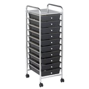 Offex Mobile 10-Drawer Storage Chest; Smoke
