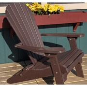 Buyers Choice Phat Tommy Folding Recycled Poly Adirondack Chair; Espresso