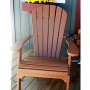 Buyers Choice Phat Tommy Folding Recycled Poly Adirondack Chair; Cappuccino