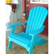 Buyers Choice Phat Tommy Folding Recycled Poly Adirondack Chair; Island Teal