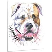 DesignArt 'Cute Dog w/ Open Mouth' Painting Print on Metal