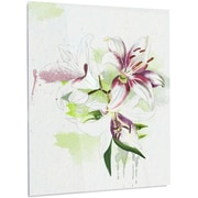 DesignArt Floral 'Colorful Flowers w/ Color Splashes' Painting Print on Metal