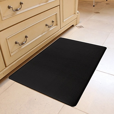 Home Fashion Designs Kingston Solid Anti Fatigue Kitchen Mat Black Staples