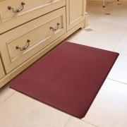Home Fashion Design Kingston Solid Anti-Fatigue Kitchen Mat; Burgundy