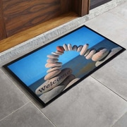 Home Fashion Design Bora Bora Stacked Stone Printed Outdoor Welcome Door Mat