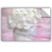 ArtWall Cora Niele White Pink Wall Decal; 24'' H x 36'' W x 0.1'' D