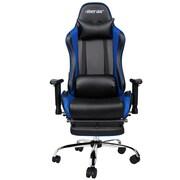 Merax Racing High-Back Executive Chair w/ Adjustable Armrest; Blue