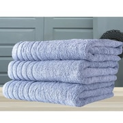 Makroteks Textile L.L.C. Barnum Bath Towel (Set of 3); Blue
