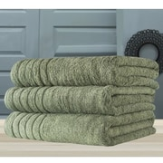 Makroteks Textile L.L.C. Barnum Bath Towel (Set of 3); Green