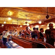 'Bar Scene - After the Market Closes' by David Lloyd Glover Painting Print on Wrapped Canvas