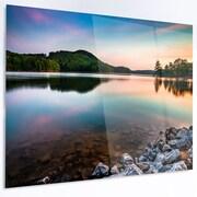 DesignArt 'Lake Allatoona at Red Top Mountain' LED Photographic Print on Metal
