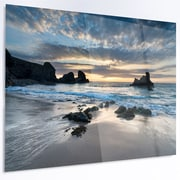 DesignArt 'Beautiful Porthcothan Bay' Photographic Print on Metal; 12'' H x 28'' W x 1'' D
