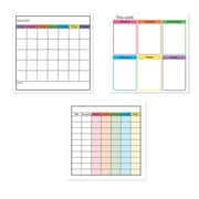 Flipside Products 3 Piece Low-Tac Classroom Management Combo Whiteboard, 24'' x 24''