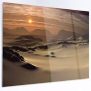 DesignArt 'Beautiful Brown Fantasy Terrain' Photographic Print on Metal; 12'' H x 28'' W x 1'' D
