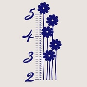 SweetumsWallDecals Flower Growth Chart Wall Decal; Navy