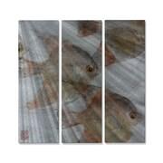 All My Walls 'Anglefish School' by Jack Schwartz 3 Piece Painting Print Plaque