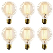 Newhouse Lighting Thomas Edison Globe Incandescent Vintage Filament Light Bulb (Set of 6)