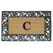 Creative Accents Rubber Coir Acanthus Monogrammed Door Mat; C