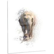 DesignArt 'Large Elephant Portrait' Graphic Art on Metal; 48'' H x 40'' W x 1'' D