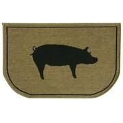 Bacova Guild Relince Slice Pig Burlap Mat