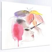 DesignArt 'Eye Lash Face Woman Cosmetic' LED Graphic Art on Metal