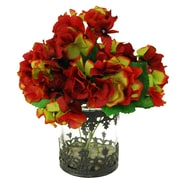 LCGFlorals River Rocks and Hydrangea's Floral Arrangements in Decorative Vase; Red